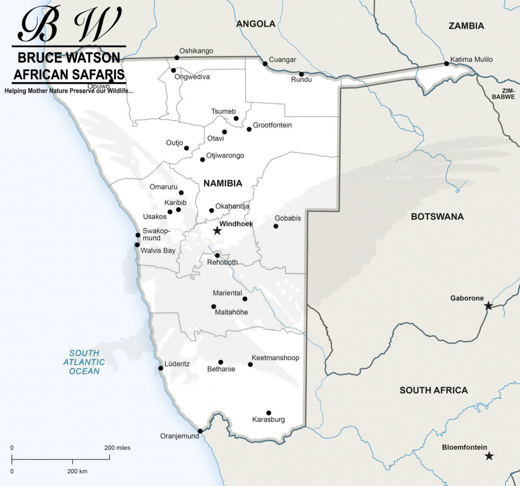 Namibia Info Map