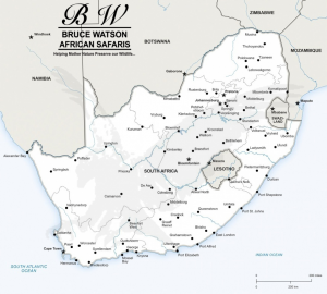 South Africa Info Map